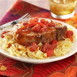 Tangy Tomato Pork Chops Recipe