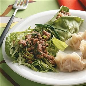 Thai Pork Salad Wraps Recipe