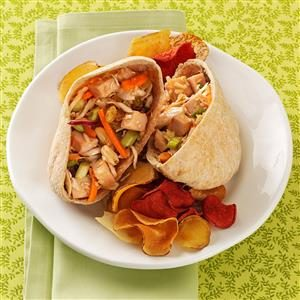 Thai Turkey Salad Pitas Recipe