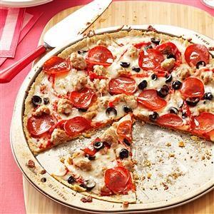 Thin-Crust Gluten-Free Pepperoni Pizza Recipe
