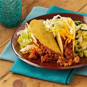 Three-Chili Turkey Tacos
