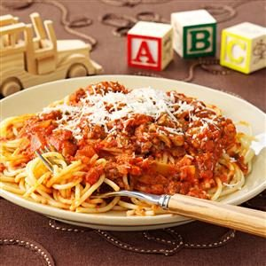 Three-Meat Spaghetti Sauce Recipe