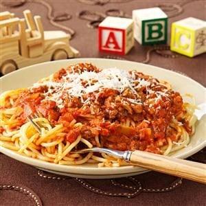 Three-Meat Spaghetti Sauce Recipe