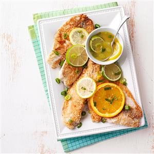 Tilapia with Citrus Sauce Recipe