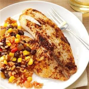 Tilapia with Fiesta Rice Recipe