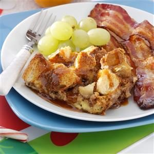 Toffee Apple French Toast with Caramel Syrup Recipe