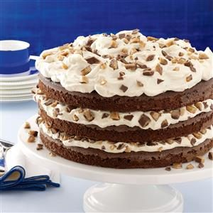 Toffee-Mocha Cream Torte Recipe