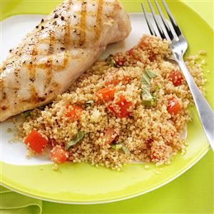 Slow-Cooked Tomato-Basil Couscous Salad