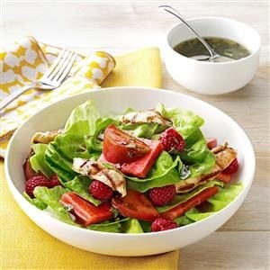 Tomato-Melon Chicken Salad Recipe