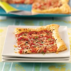 Tomato Tart with Three Cheeses