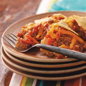 Tortilla Beef Bake Recipe