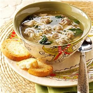 Traditional Italian Wedding Soup