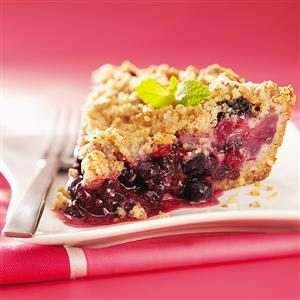 Triple-Berry Crumb Pie Recipe