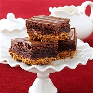 Triple-Layer Pretzel Brownies Recipe
