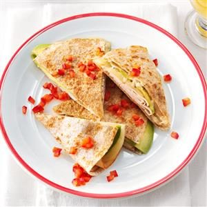 Turkey & Swiss Quesadillas Recipe