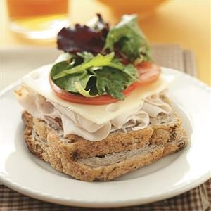 Turkey & Swiss with Herbed Greens Recipe
