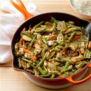 Turkey Asparagus Stir-Fry Recipe