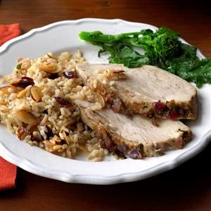Turkey Breast with Cranberry Brown Rice Recipe