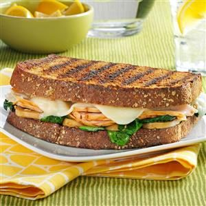 Turkey Florentine Sandwiches Recipe
