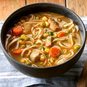 Turkey Ginger Noodle Soup Recipe