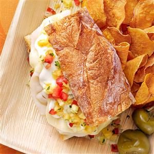 Turkey Sandwich with Pineapple Salsa