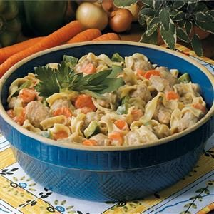 Turkey Sausage and Noodles Recipe