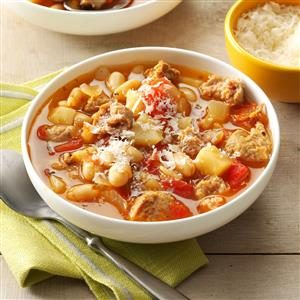 Turkey Sausage Bean Soup