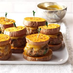 Turkey Sliders with Sweet Potato