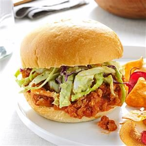 Turkey Sloppy Joes with Avocado Slaw Recipe