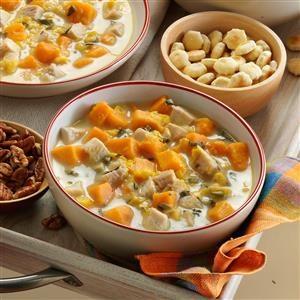 Turkey-Sweet Potato Soup Recipe