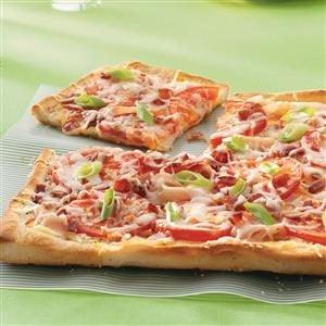 Turkey Tomato Pizza Recipe