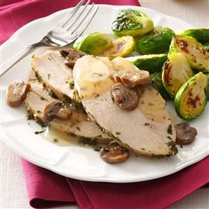 Turkey with Mushroom Sauce Recipe
