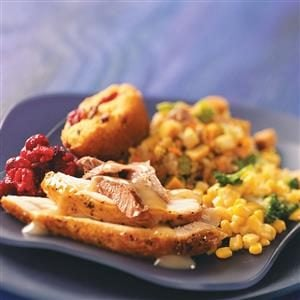 Turkey with Vegetable Sausage Stuffing Recipe