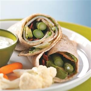 Turkey Wraps with Maple Mustard Dressing for Two Recipe