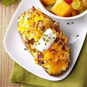 Twice-Baked Breakfast Potatoes for Two Recipe