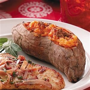 Twice-Baked Creamy Sweet Potatoes Recipe