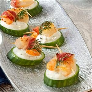 Tzatziki Shrimp Cucumber Rounds Recipe