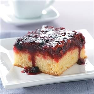 Upside-Down Berry Cake
