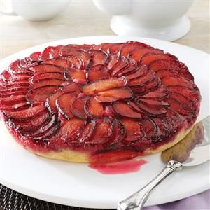 Upside Down Plum Cake Recipe