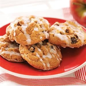 Vanilla-Glazed Apple Cookies Recipe