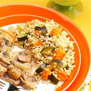 Vegetable and Barley Pilaf Recipe