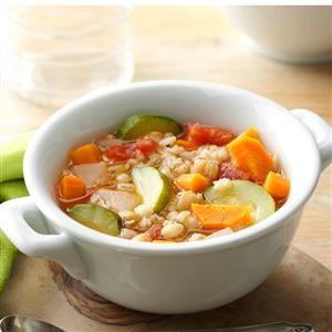 Vegetable Bean Barley Soup Recipe