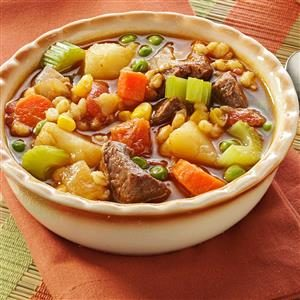 Vegetable Beef Barley Soup Recipe