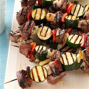 Vegetable Beef Kabobs Recipe