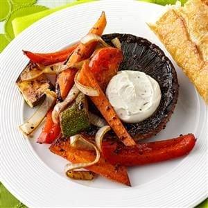 Vegetable-Stuffed Grilled Portobellos Recipe
