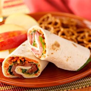 Vegetarian Hummus Wraps Recipe