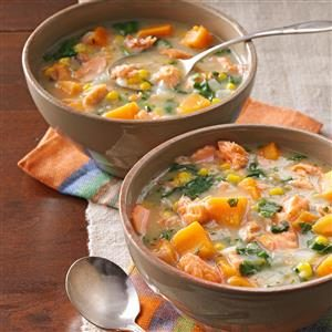 Veggie Salmon Chowder Recipe