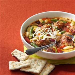 Veggie Soup with Meatballs Recipe