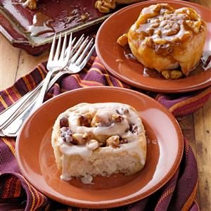 Walnut-Caramel Sticky Buns Recipe
