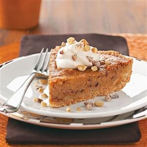 Walnut-Date Pumpkin Pie Recipe